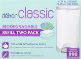 Dekor Diaper Refills - Biodegradable (2 Pack) - Regular [Baby Product]