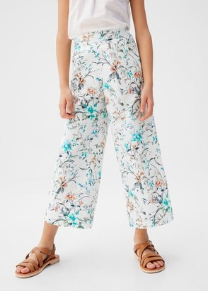 MANGO Flower culottes trousers