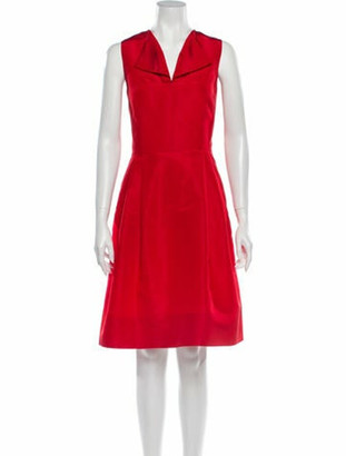 Oscar de la Renta 2013 Knee-Length Dress Red