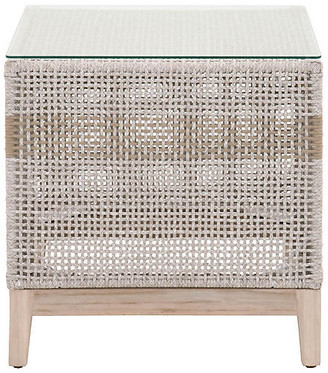 One Kings Lane Arras Outdoor Side Table - Gray