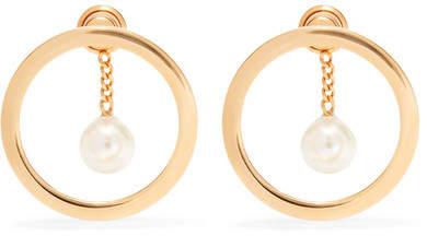 Chloé Gold-tone Faux Pearl Earrings