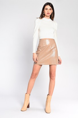 Glamorous Womens **Cream Puff Sleeve Fine Knitted Jumper By Cream
