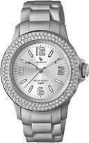 Swarovski Laurens Women's GW70J906Y Crystal Bezel Silver Dial Rubber Watch