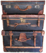 One Kings Lane Vintage 19th-C. English Leather Luggage