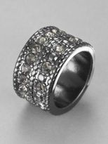New York & Co. Two-Row Rhinestone Embellished Ring