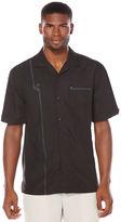Cubavera Short Sleeve Texture Embroidered Pocket Shirt