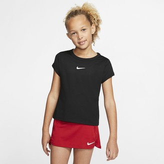 Nike Big Kids' (Girls') Tennis Top NikeCourt Dri-FIT
