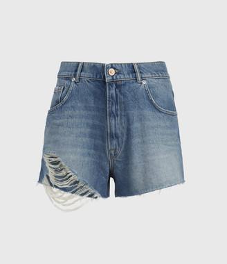 AllSaints Winnie Cut Off High-Rise Denim Shorts