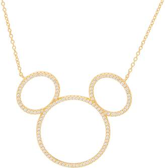 Disney Mickey's 90th Birthday Diamonique Silhouette Necklace, Sterl