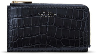 Smythson Croc-Embossed Leather Coin Purse