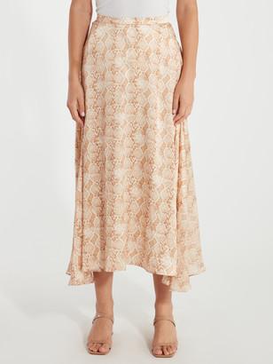 Bec & Bridge Anaconda Silk Midi Skirt