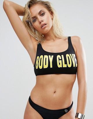 Body Glove Logo Bikini Top-Black