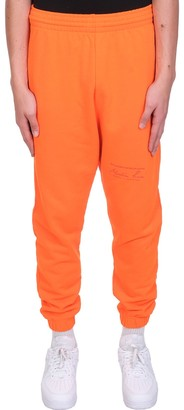 Martine Rose Pants In Orange Cotton