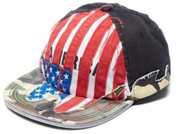 Vetements American Flag Applique Cotton Baseball Cap - Womens - Red