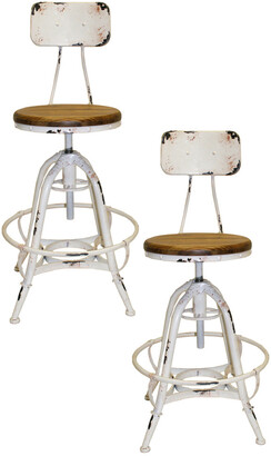 Pangea Bruce Set Of Two Counter Stools
