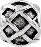 Persona Sterling Silver Criss Cross Stopper Charm fits European Silver Charm Bracelets