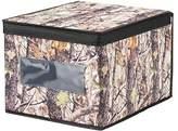 InterDesign Woodland Fabric Closet Storage Box Organizer, Forest/Black