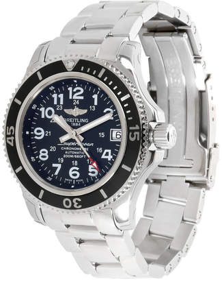 Breitling Black and Stainless Steel Superocean II A17312C9/BD91 Women's Wristwatch 36MM