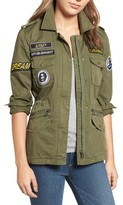 Velvet by Graham & Spencer Women's Patched Army Jacket