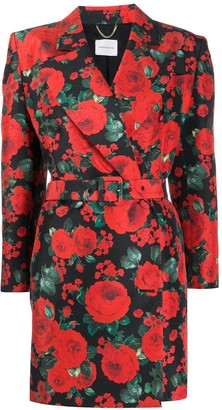 Magda Butrym Floral Print Tuxedo Dress