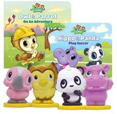 Leapfrog Learning Friends Owl & Parrot and Hippo & Panda Figures with Board Book