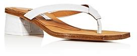 Miista Women's Cherith Croc-Embossed Block-Heel Thong Sandals