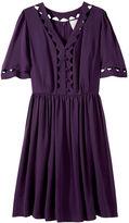 Cut-Out Cloche Sleeve Dress