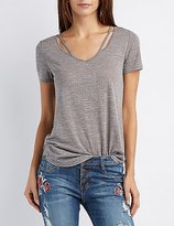 Charlotte Russe Strappy Cut-Out Swing Tee