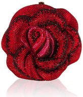 Judith Leiber Couture New Rose American Beauty Crystal Minaudiere