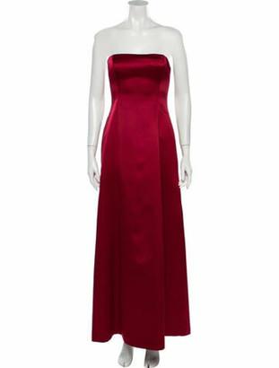Nicole Miller Strapless Long Dress Red