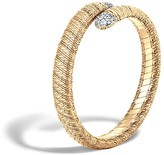 John Hardy Classic Chain 18K Gold Diamond Pavé Single Coil Bracelet