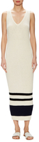 James Perse Cotton Ribbed Stripe Sheath Dress