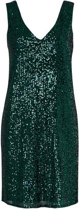 Wallis Green Sequin Shift Dress