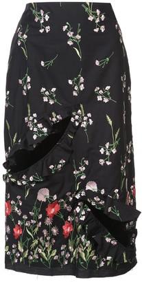 Marques Almeida Floral Print Skirt