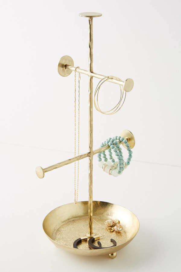 Bea Jewelry Stand By Anthropologie in Gold Size ALL
