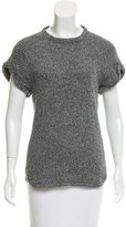 Isabel Marant Bicolor Short Sleeve Sweater