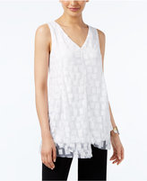 Alfani Burnout Asymmetrical-Hem Top, Only at Macy's