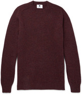 Nn07 - Nathan Mélange Knoll Wool Sweater