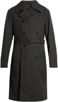 Jil Sander Double-breasted checked trench coat