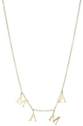 Jennifer Zeuner Jewelry Tara Goldplated Mama Charm Necklace