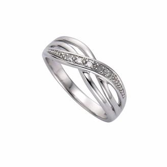 Celesta Ellen K. 340270021-060 Women's Ring - 925/1000 Sterling Silver with Diamonds - 3.2 g