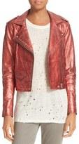IRO Women's Metallic Leather Jacket