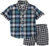Masala Neat Shirt 2 Piece Set (Baby) - Navy-6-12 Months