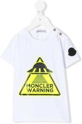 Moncler Enfant crew neck UFO print T-shirt