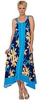 C. Wonder Engineered Floral Print Knit Midi Dress w/ Hi-Low Hem