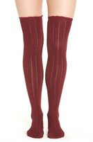 Urban Outfitters Free People 'All For One' Pointelle Knit Over The Knee Socks