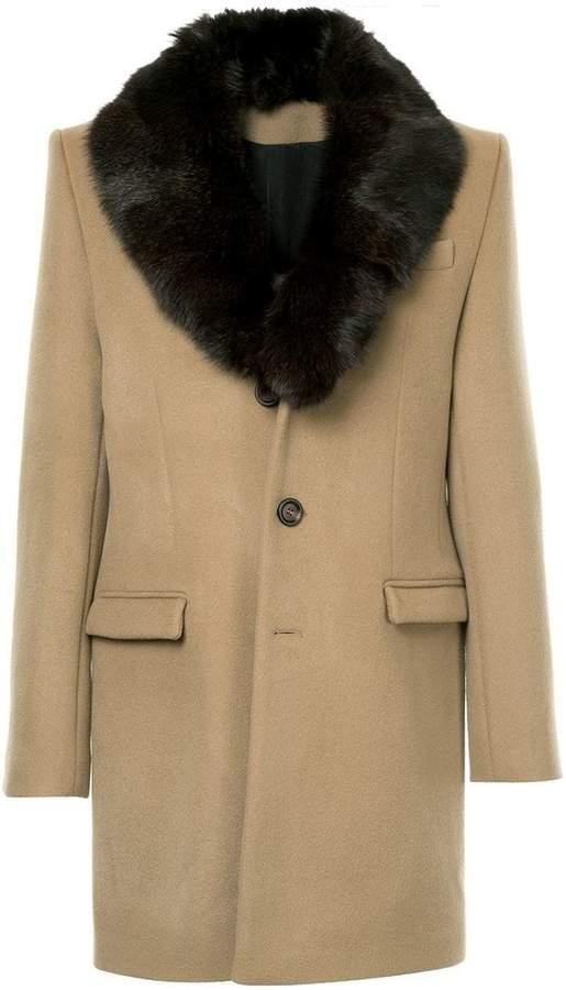 Yves Salomon fur lapel coat