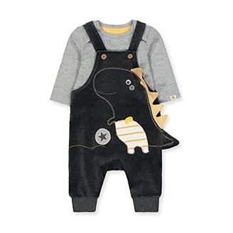 Mothercare Baby NB AD NOV Dino Dungaree Clothing Set,Tiny (Size:50)