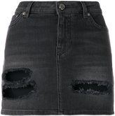 Givenchy distressed denim mini skirt