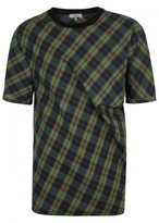 Lanvin Green Checked Cotton T-shirt